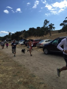 Carly helping to set the pace...