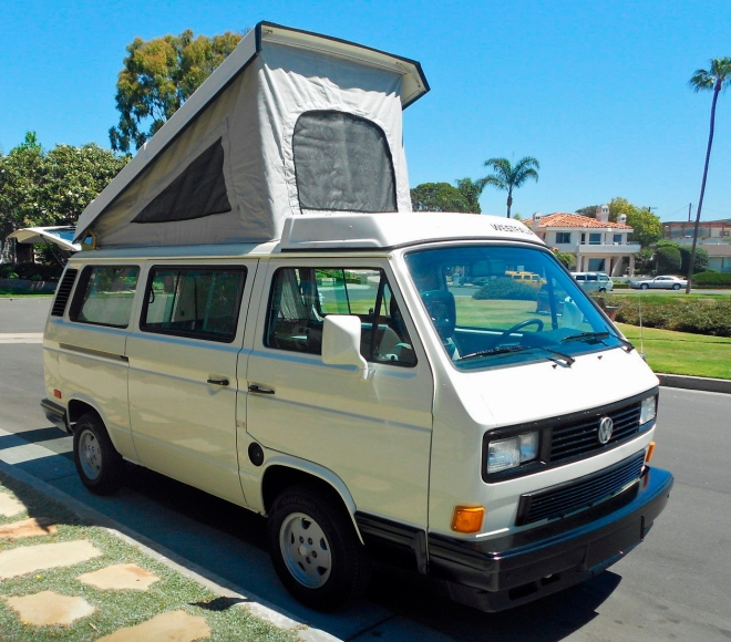 1989 VW Vanagon Westfalia Camper Auction in Huntington Beach, CA